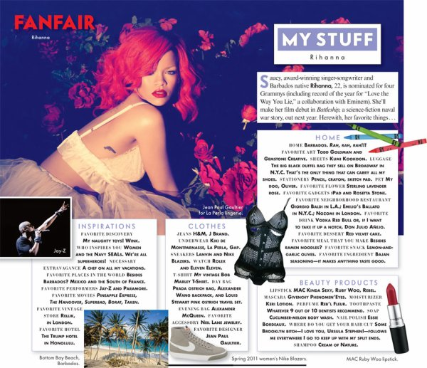 NEW 18/01/11 : Vanity Fair's  !