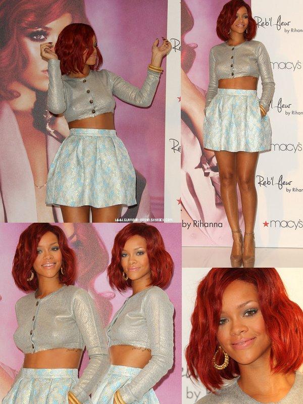 Rihanna au magazin Macy's