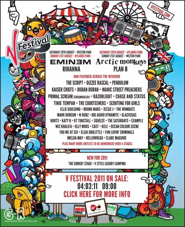 Rihanna sera presente au V Festival le 20 Aout