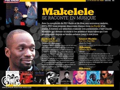 . 15 Avril 2011 Le joueur Claude Makelele parle de Rihanna ! .