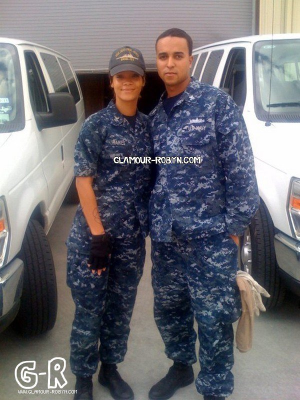 Rihanna On The Set Battleship