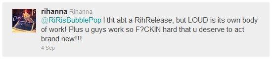 -----Rihanna abandonne l'idée d'une réédition de Loud!------------Article posté par Oksana.