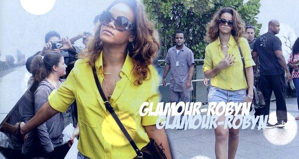 -22 Sept : Rihanna visite la statue 'Cristo Redentor' à Rio de Janeiro --Article posté par Elodie.