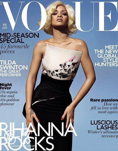 Rihanna pour le magazine vogue (UK) ---------------------------------Article posté par Elodie .