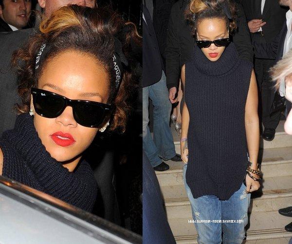 Rihanna quitte le restaurant Nozomi - 4 Ocotobre --------------------Article posté par Elodie .