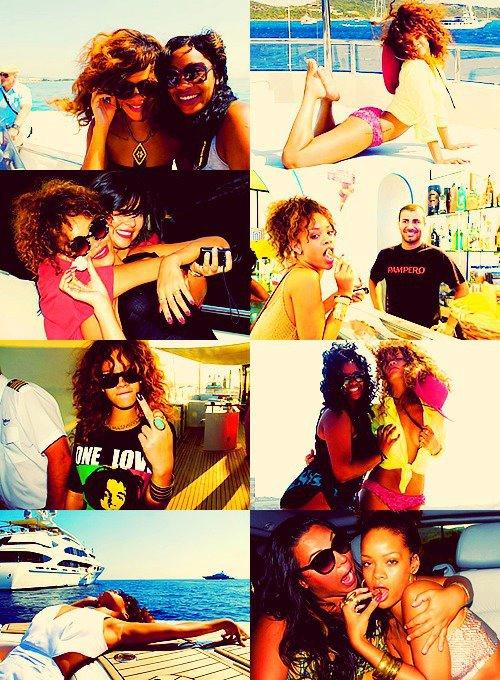 Rihanna nous gates avec c'est photos personnelles : Etè 2011-----------Article posté par Elodie .