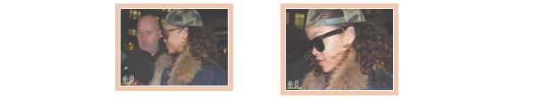 07 Novembre: Rihanna quitte l'hotel Hyatt à Zurich--------------------Article posté par Elodie .