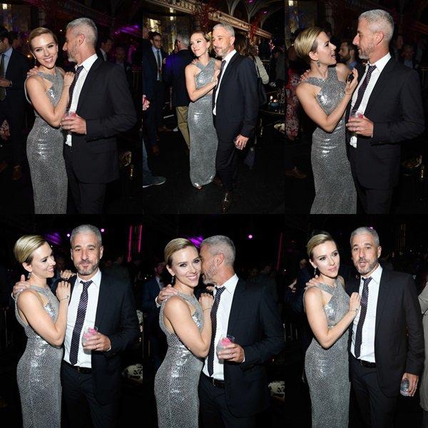 . ♦ Scarlett Johansson et Matthew Tolmach assistent à la soirée après la première «Rough Night» à Diamond Horseshoe le 18 Juin 2017 à New York. !  .
