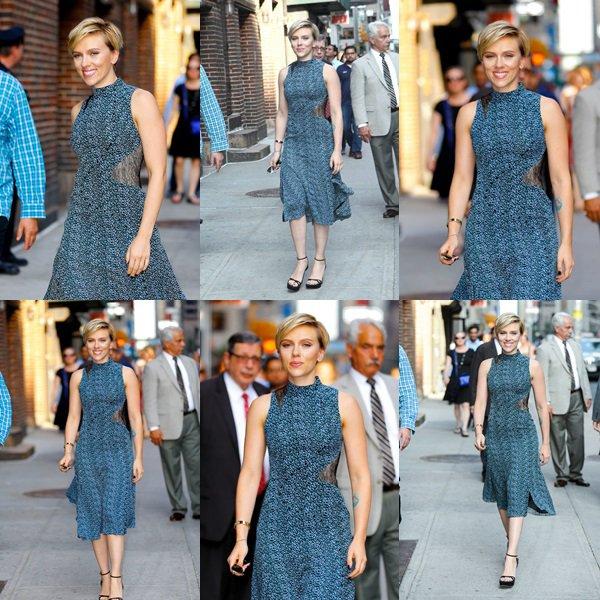 . ♦ Scarlett Johansson - Arrive à 'The Late Show with Stephen Colbert' à New York , Le 15 Juin 2017 !  .