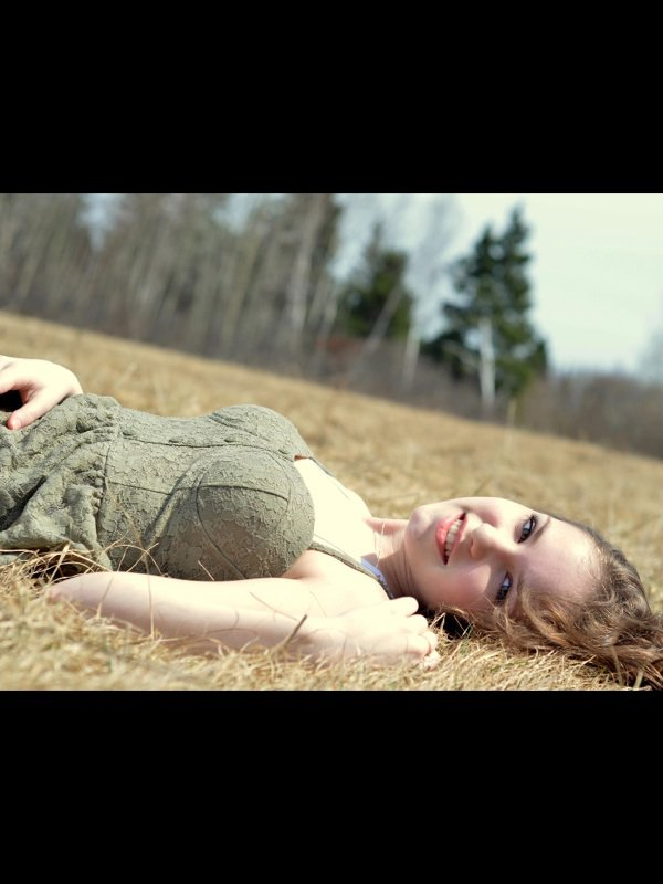 Moi dans un champs aujourd'hui;)