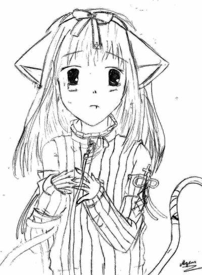 Kawaii neko-girl ^^