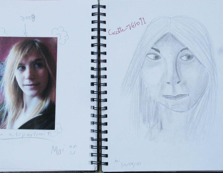 Premier dessin de Autoportait de Moi en 2008 (2011)
