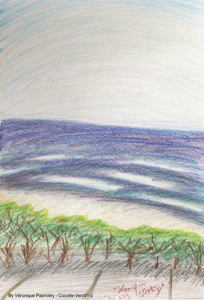 Recherche couleur sur l'eau de l'océan Pacifique à Acapulco (2013)