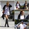 23/04 : Miley accompagnée d'une amie et de Liam allant faire du shopping a Toluca Lake