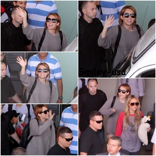 11.05.11 Miley arrive a Rio De Janeiro