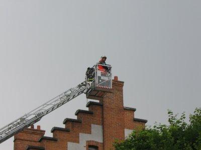 chute de la cheminée de la mairie