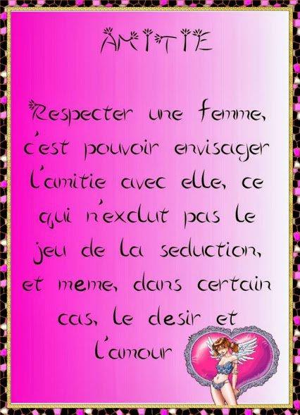 le respect d'une femme est la base pour avoir son amour