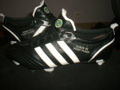 worn match boots kaka !!!