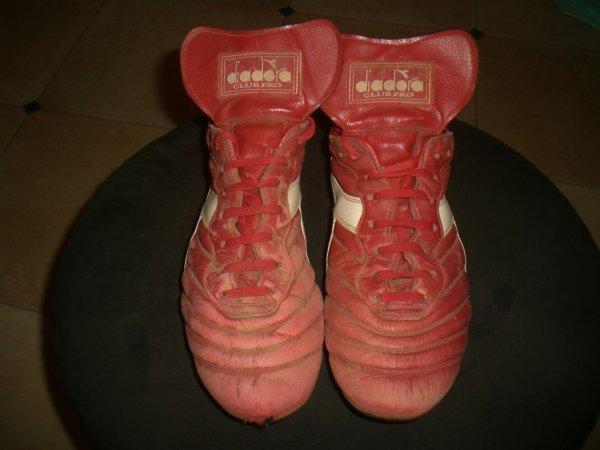 worn match boots weah