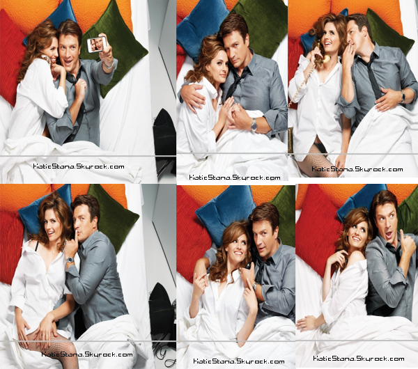 Stana Katic   Photoshoot Entertainment Weekly - Août 2012 avec Nathan Fillion