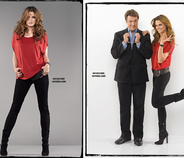 Stana Katic.  Alternative Travel Projet !       Stana Katic.  Interview pour l'épisode 6 de la saison 5 !      Stana Katic.  Photo promo saison 5 - Stana Katic et Nathan Fillion !      Stana Katic.  Holiday Guide !