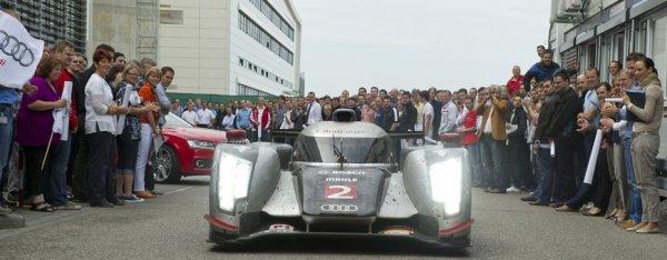 Les employés d'Audi fêtent la R18 TDi