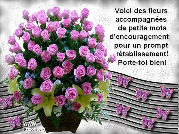 Prends soin de toi mon amie manu gros bisous blog de for Livraison fleurs avec message