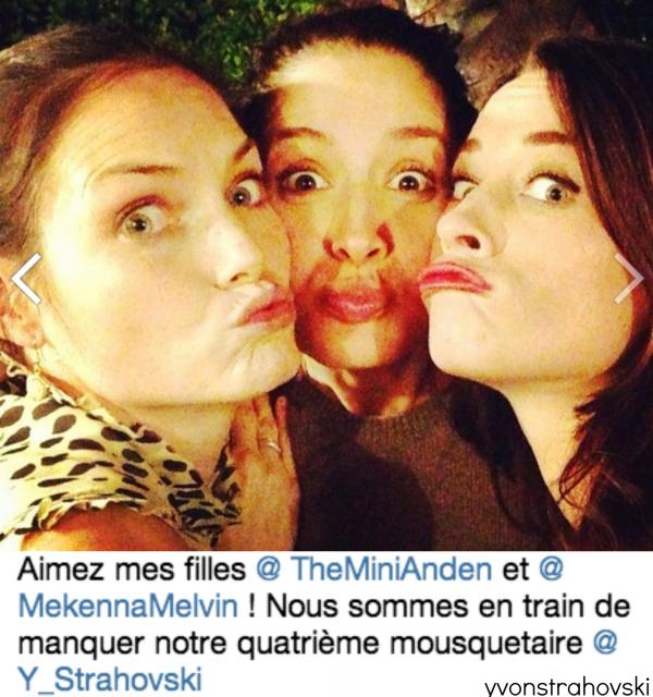 Aussi , le jour de l'anniversaire de mercedes, elle fete de son anniversaire avec ses meilleures amies dont Mini Anden, Mekenna Melvin aussi Yvonne mais elle n'a pas pu de venir cause le tournage de 24 heures mais elles pensent à Yvonne..