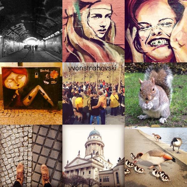 Le 27 mars 2014, Yvonne a posté les photos de Berlin et de London sur son compte d'instagram