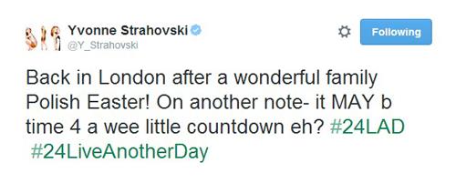 Le 21 avril 2014, Yvonne a été à Pologne (sa origine) pour aller voir ses parents et sa famille.. Pas photos d'aéroport ou autres sauf les photos d'instagram d'Yvonne