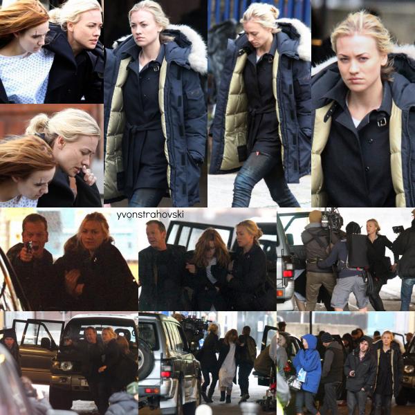 Le 26 avril 2014, Yvonne a été vu en faisant le tournage pour la série 24 heures