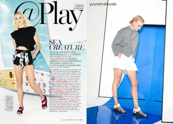 """Le 21 mai 2014, Yvonne a été aperçu dans la magazine """"Créature de mer"""""""