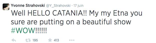 Le 13 juin 2014, la double corps d'Yvonne de 24heures (Kya Garwood), a tweet une photo d'elle et Yvonne