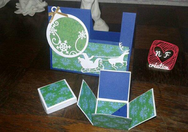 une carte sous forme de boite à cadeau