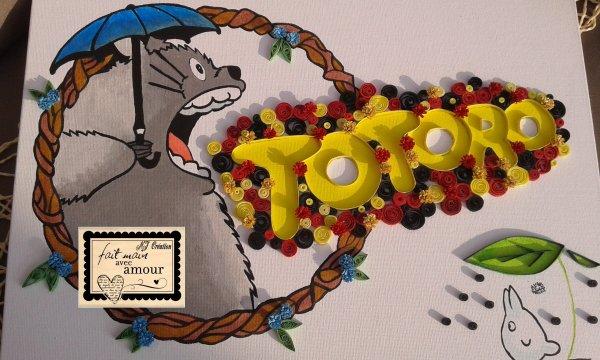 tableau totoro au quilling