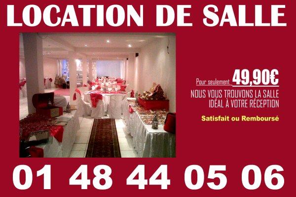 LOCATION SALLE partout en France contactez-nous au 01 48 44 05 06