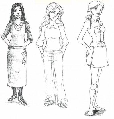 Abélia , Océane et Stella