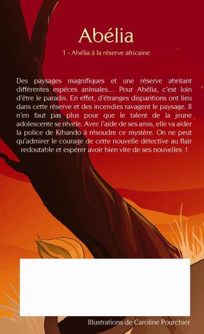 Couvertures du Livre : Abélia à la réserve africaine ( recto , verso )
