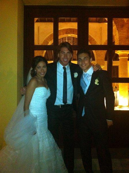Sergio Ramos au Mariage de jesus Navas