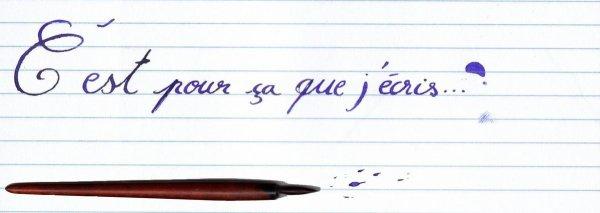 J'écris..