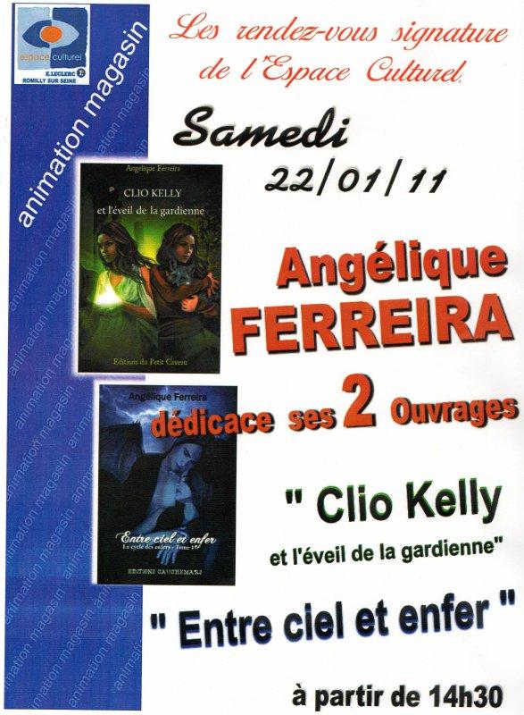 Dedicace le 22/01/2011 a Romilly sur Seine