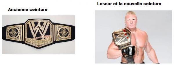 Nouveau champion, nouvelle ceinture