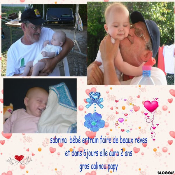 moi et ma 2 eme princesse ki aura 2 ans le 18 mai gros calinou de papy  ki t aime tout fort