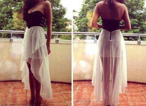 Fashion: Dress Black and White ♥