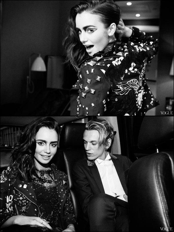 Photoshoot de Lily pour le magazine Vogue qui a été réalisé lorsqu'elle se préparait avec Jamie pour aller au Met Gala.
