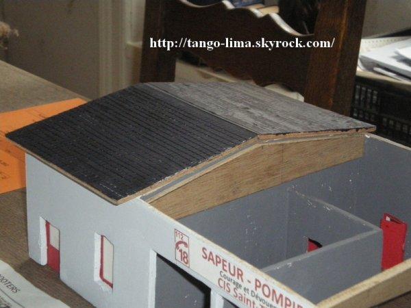 Avancement des travaux du CIS Saint-Thomas - couverture d'ardoises
