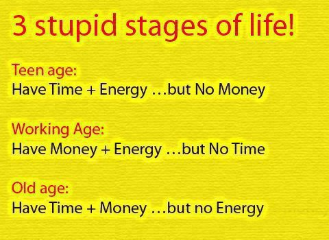Life's stupid stages