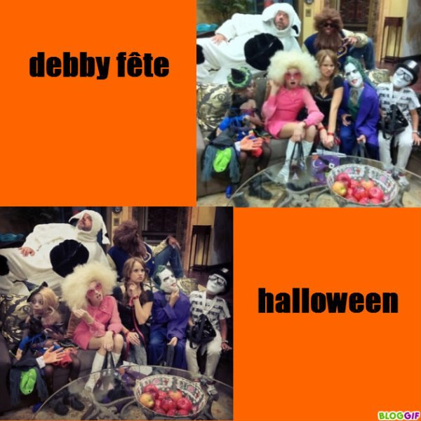 debby ryan fête halloween + photo twitter
