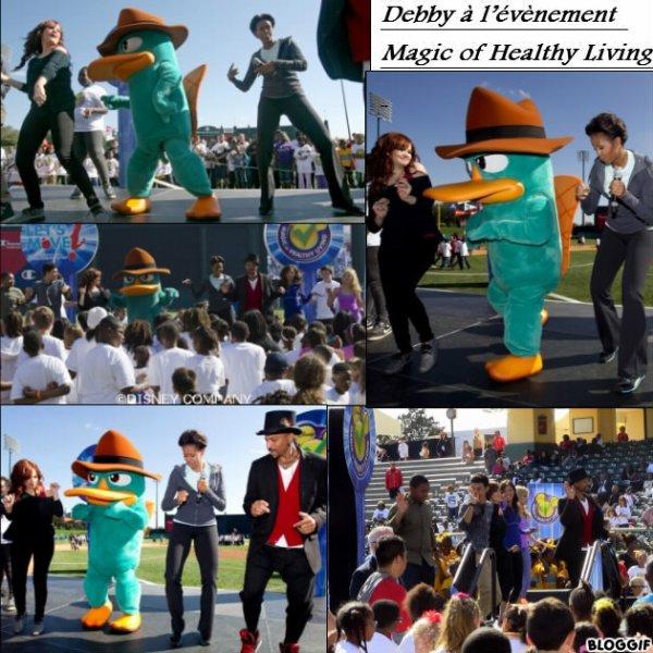 Debby à l'évènement Magic of Healthy Living