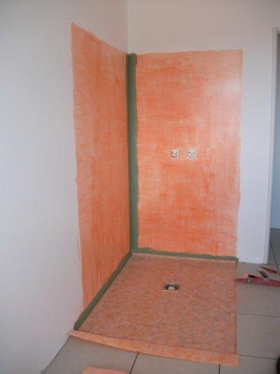 Preparation douche italienne blog de notre maison 21 - Douche italienne mur ...